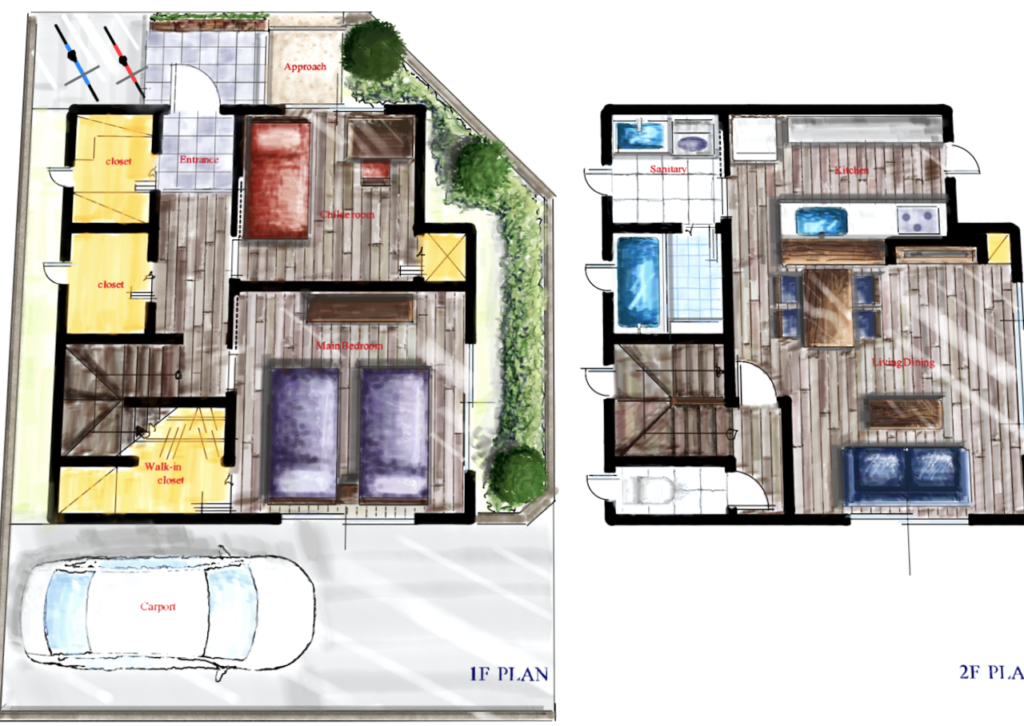 2階リビング間取りの家づくり案