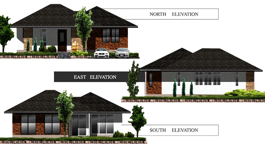 平屋のおしゃれな家 外観デザイン