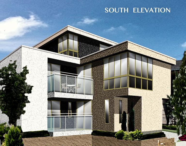 おしゃれな家の外観 新築3階建て住宅