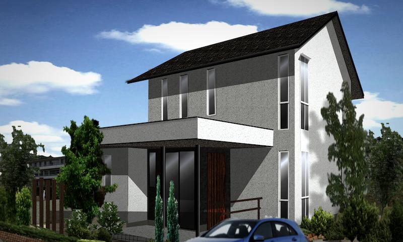 おしゃれな家、かっこいい家の外観デザイン 切妻屋根