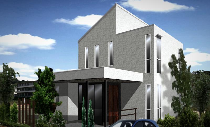 おしゃれな家、かっこいい家の外観デザイン モダンなフラットルーフ