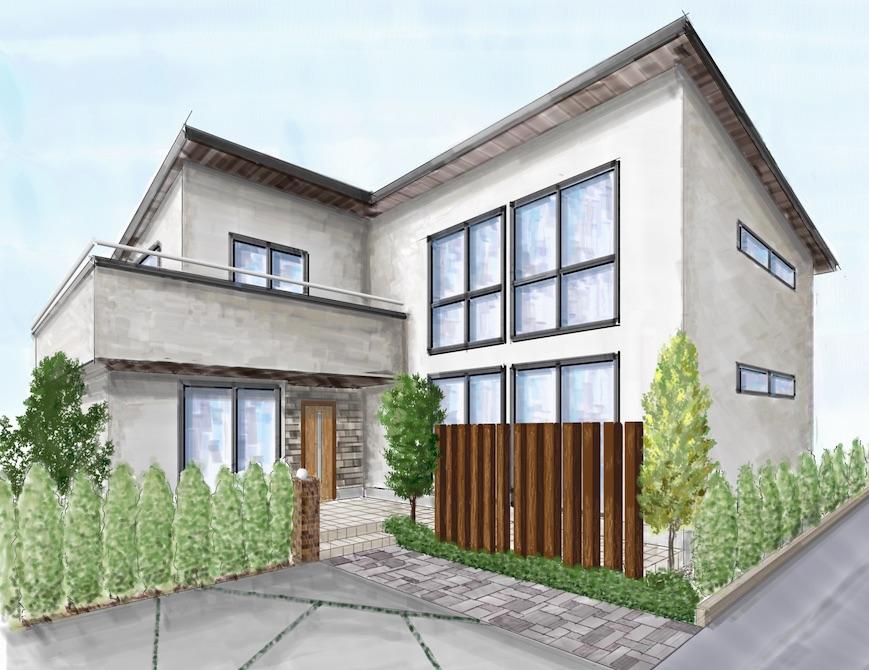 新築注文住宅の間取り図外観素敵な家づくり