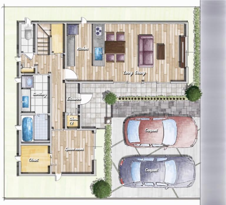 パートナーズライフプランニング の新築注文住宅の間取り図作成